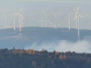 Windenergieanlagen im Wald (Foto: M. Dietz)